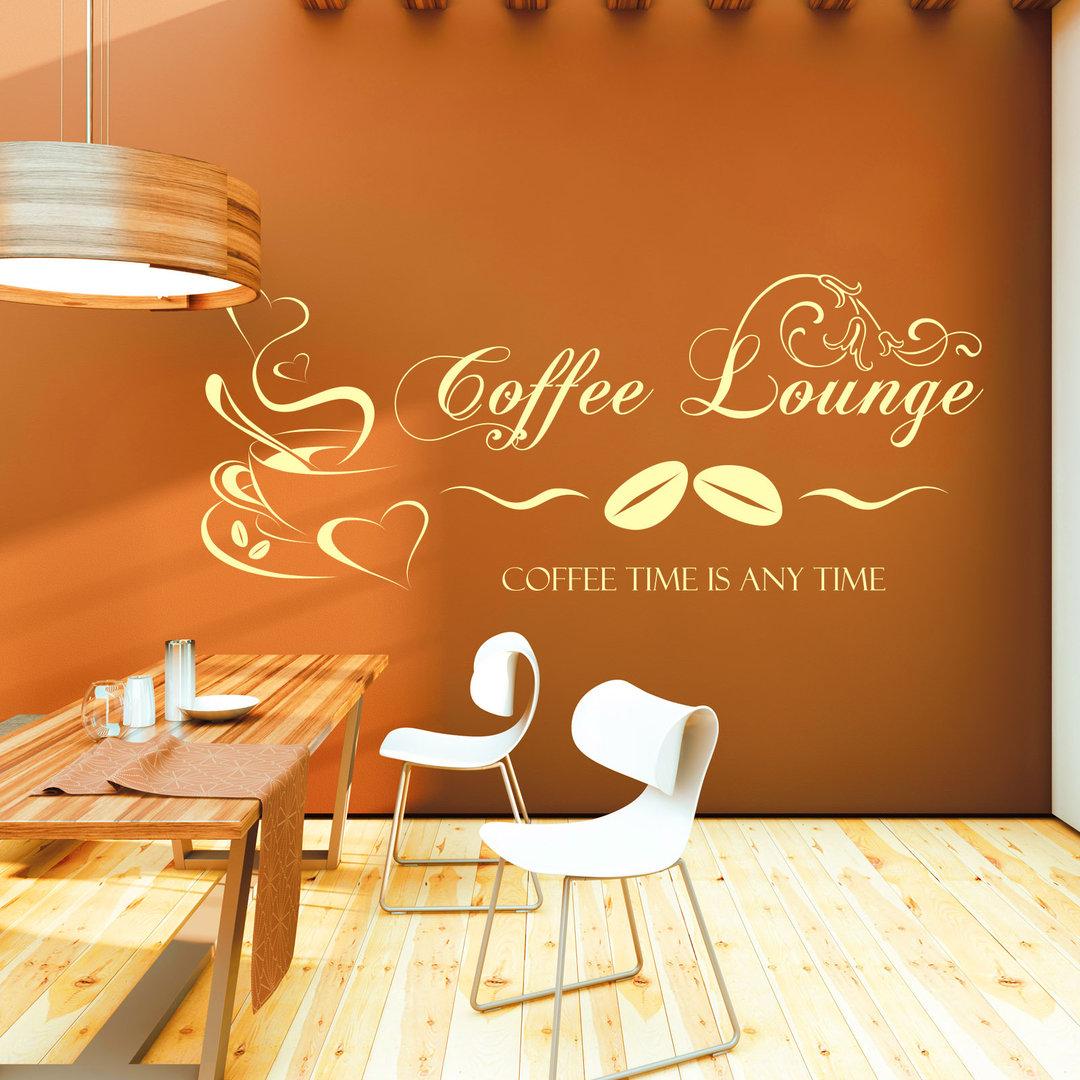 Wandtattoo Coffee Lounge  Kaffee Motiv fr Kche und Esszimmer