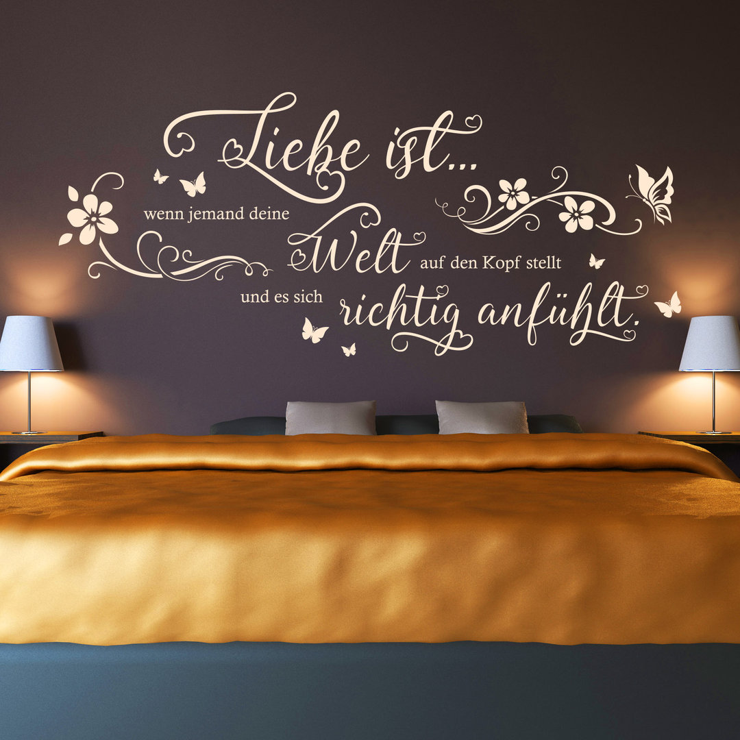 Wandtattoo Liebe ist wenn jemand deine Welt WandBild Spruch