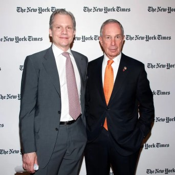 arthur sulzberger mike bloomberg