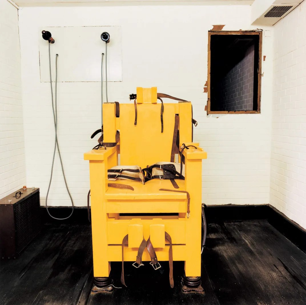 execution by electric chair slipcover for club and ottoman photos a haunting look at americas chambers