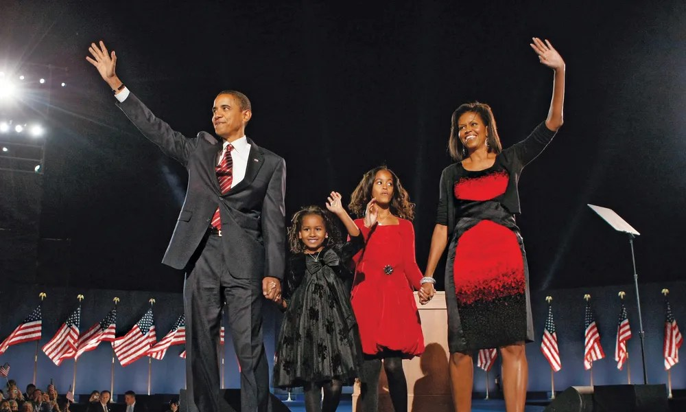 Image result for obama family portrait 2008