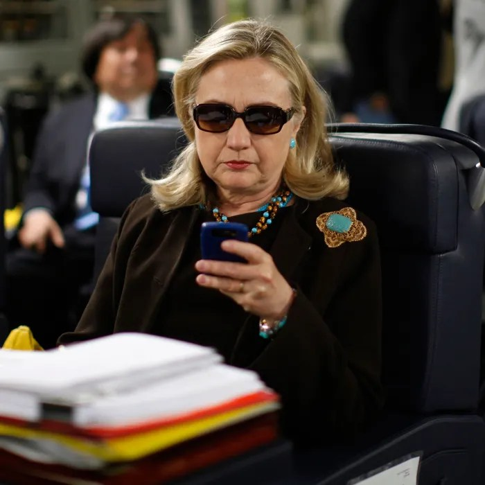 hillary clinton reacts to
