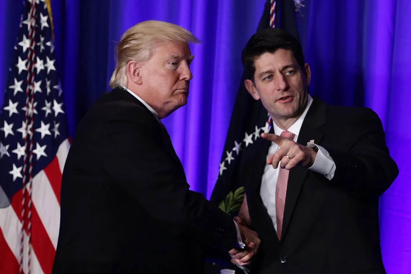Image result for photos of trump and paul ryan