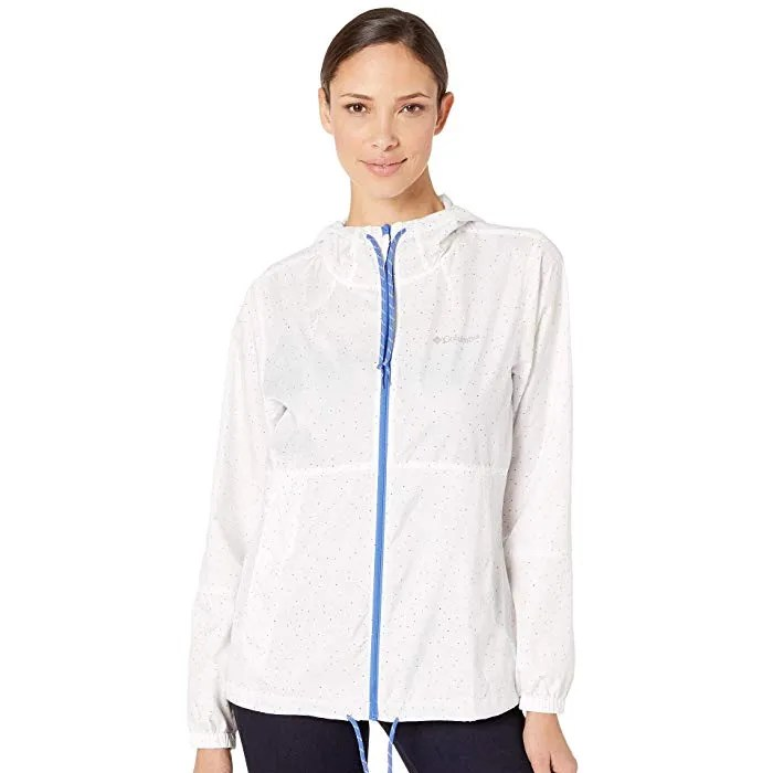 Columbia Flash Forward Printed Windbreaker, White Dot Print