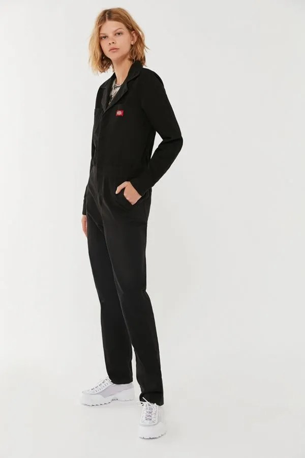 Dickies Button-Front Coverall Jumpsuit