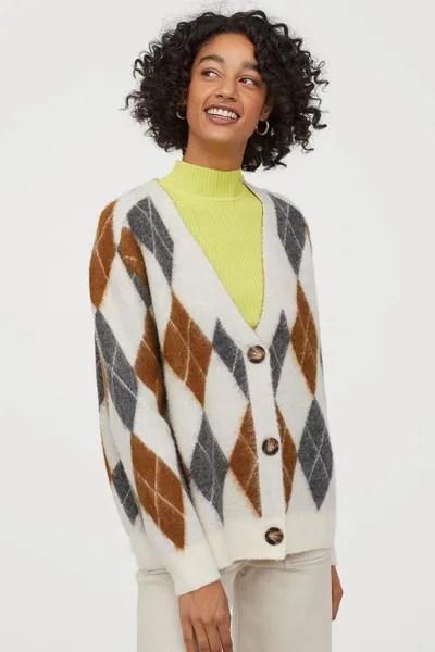 H&M x Pringle of Scotland Jacquard-Knit Cardigan