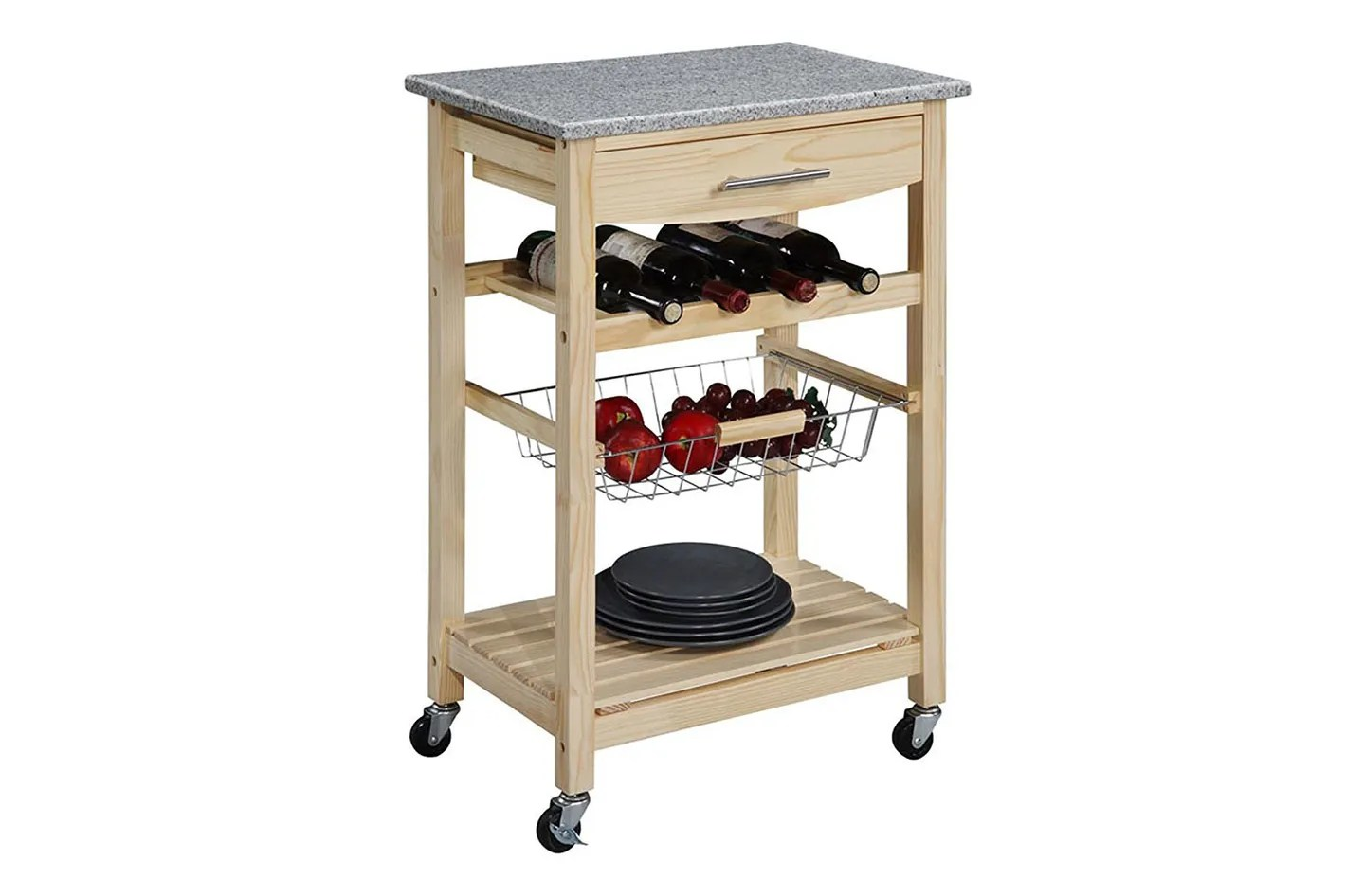 amazon kitchen cart memory foam mats the 14 best butcher block islands and carts  2018