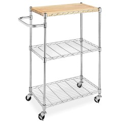 Rolling Kitchen Carts Cabinet Molding The 14 Best Butcher Block Islands And 2018 Whitmor Supreme Cart With Wheels Wood Chrome