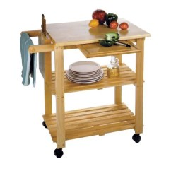 Rolling Kitchen Carts Swinging Door The 14 Best Butcher Block Islands And 2018 Winsome Wood Utility Cart Natural