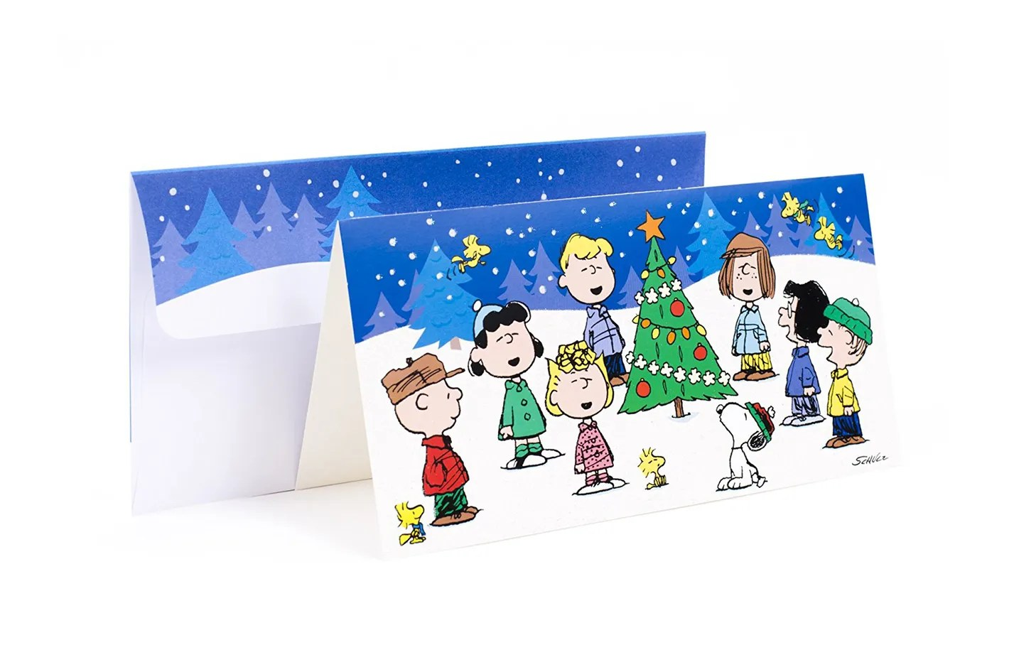 Charlie Brown Christmas Cards Boxed Christmas Lights