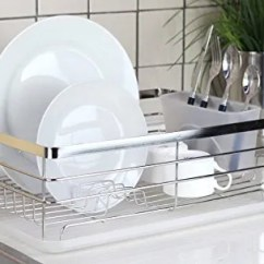 Kitchen Drying Rack Decor Cheap Best Dish Racks Drainers On Amazon Stylish Sturdy Stainless Steel Metal Wire Medium Drainer Chrome
