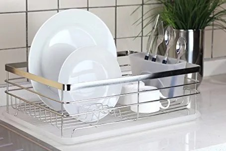 kitchen drying rack sink protector best dish racks drainers on amazon stylish sturdy stainless steel metal wire medium drainer chrome