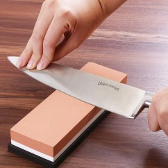 Kitchen Knife Sharpening Stone Sink Depth Best Sharpener Reviews Double Sided Multi Colored 600 1000 Grit