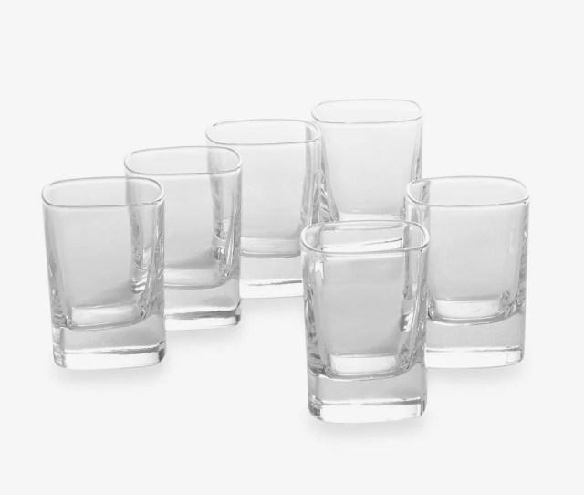 Luigi Bormioli Strauss Son Hyx Shot Glasses Set Of 6