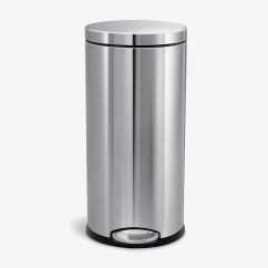 Simplehuman Kitchen Trash Can Danze Faucet 9 Best Cans 2018 30 Liter 8 Gallon Stainless Steel Round Step
