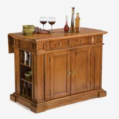 Best Kitchen Island Stacked Stone Backsplash The 14 Butcher Block Islands And Carts 2018 Home Styles 5004 94 Distressed Oak Finish