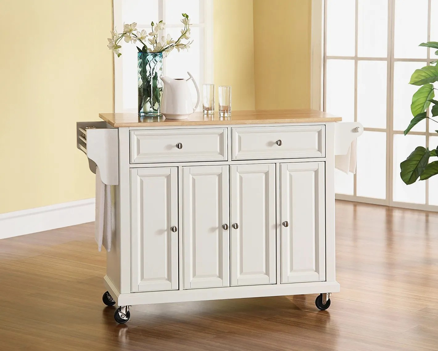 best kitchen islands cabinet lighting ideas the 14 butcher block and carts 2018 crosley furniture rolling island with natural wood top