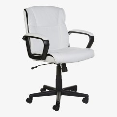 Desk Chair With Wheels Small Papasan Cushion 15 Best Office Chairs And Home 2019 Amazonbasics Mid Back White At Amazon
