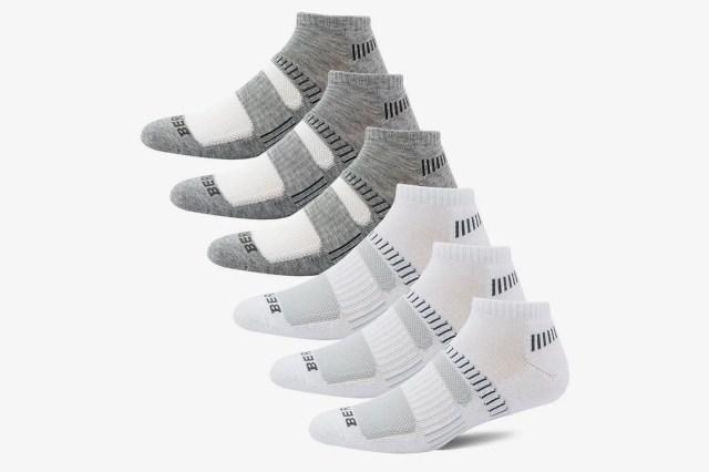 Bering Men's Performance Athletic Low Cut Running Socks (6 Pair Pack)