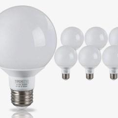 Best Led Light Bulbs For Living Room Wall Paintings 11 2018 Torchstar G25 Globe Bulb Bathroom Vanity 6 Pack