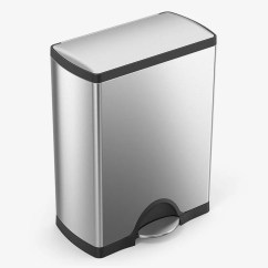 Kitchen Trash Samsung Appliance Packages 5 Best Cans According To Pro Home Cooks 2018 Simplehuman 50 Liter 13 2 Gallon Stainless Steel Rectangular Step Can Brushed