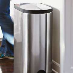 Simplehuman Kitchen Trash Can Cart With Wine Rack 5 Best Cans According To Pro Home Cooks 2018