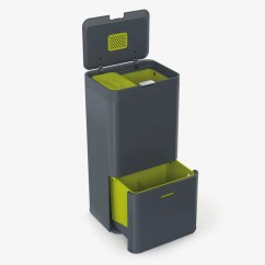 Compost Bin For Kitchen Cabinet Supply Store 13 Stylish Bins Your Small 2018 Joseph 30002 Intelligent Waste Totem Trash Can And Recycle Unit With