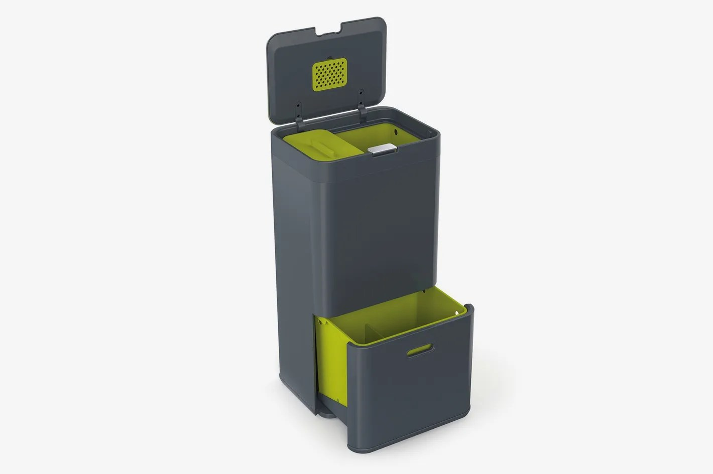 compost bin for kitchen white cabinets and backsplash 13 stylish bins your small 2018 joseph 30002 intelligent waste totem trash can recycle unit with