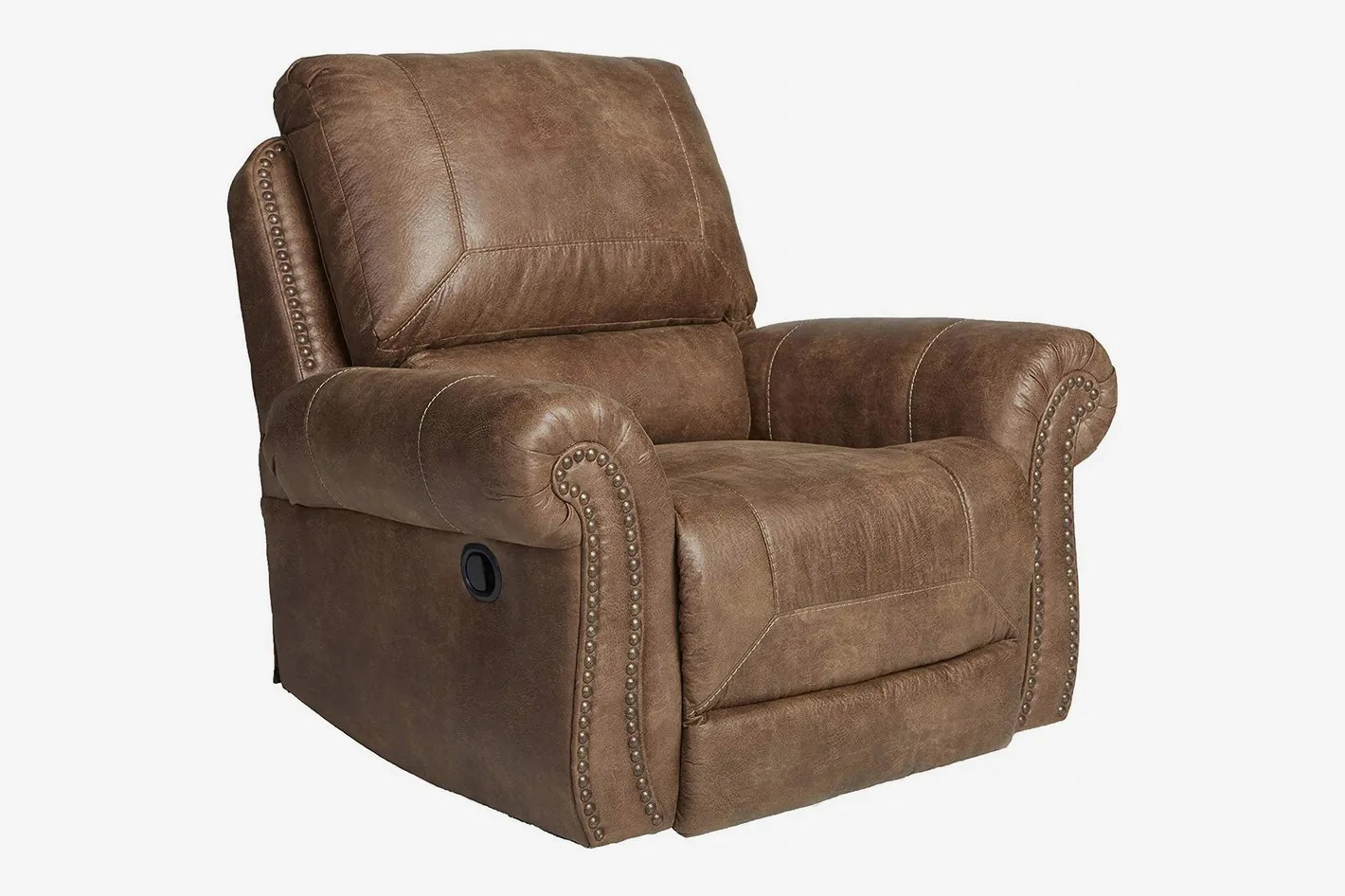 recliner chair with ottoman manufacturers inflatable stool 9 best leather recliners 2018 ashley furniture signature design larkinhurst rocker manual reclining
