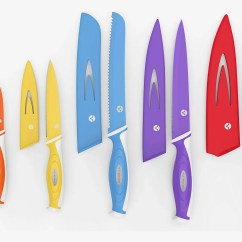 Kitchen Knife Sets For Sale Black Sink Lowes 17 Best And Reviews 2018 Vremi 10 Piece Colorful Set