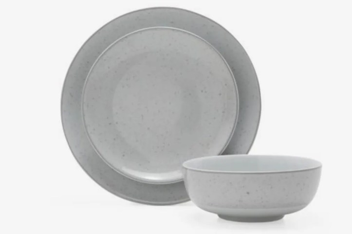 MoDRN Industrial Speckle 12 Piece Dinnerware Set, Grey