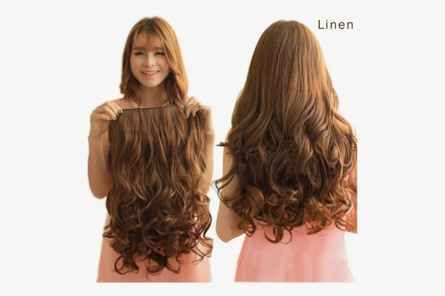 """REECHO 20"""" 3/4 Full Head Curly Wave Clips in, 4.6 Oz, 5 Clips, Dark brown"""