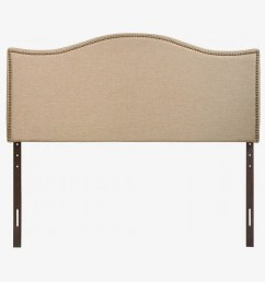 modway curl upholstered linen headboard size with nailhead trim [ 1420 x 946 Pixel ]