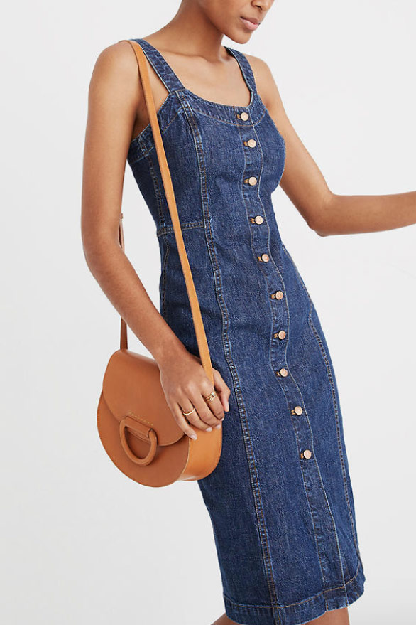 Madewell Denim Button-Front Tank Dress