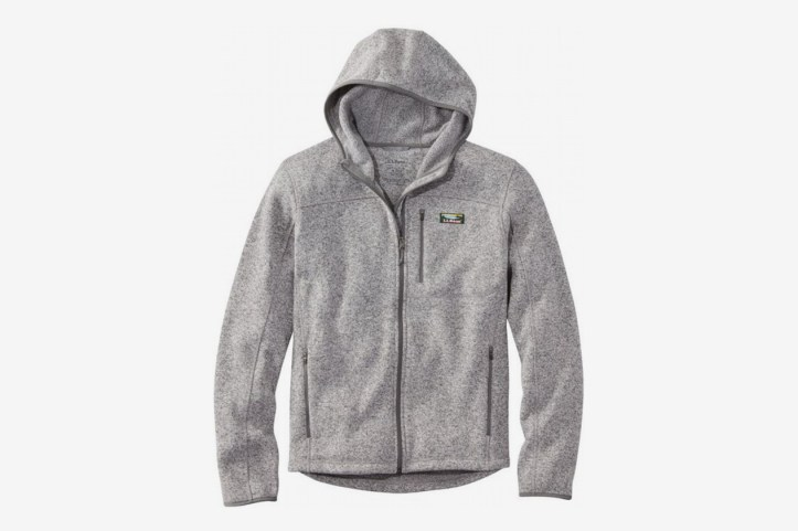 L.L. Bean Men's Bean's Sweater Fleece, Hooded Full-Zip Jacket