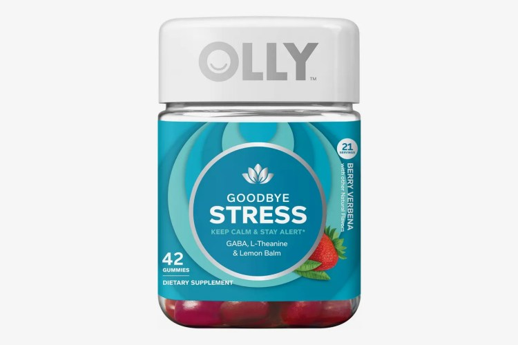 OLLY Goodbye Stress Dietary Supplement Gummies, Berry Verbena, 42 Count