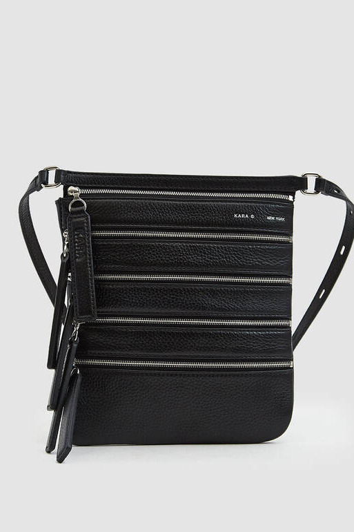 Kara Multi Zip Waist Bag in Black