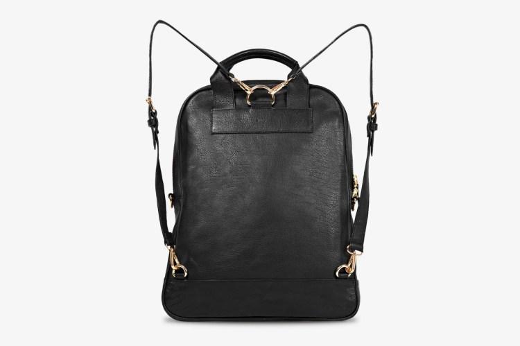 Bartaile C12 Black Leather Backpack