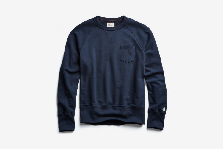 Todd Snyder x Champion Fleece Pocket Sweatshirt Navy
