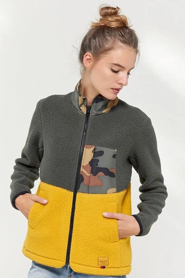 Herschel Supply Co. Colorblock Fleece Jacket