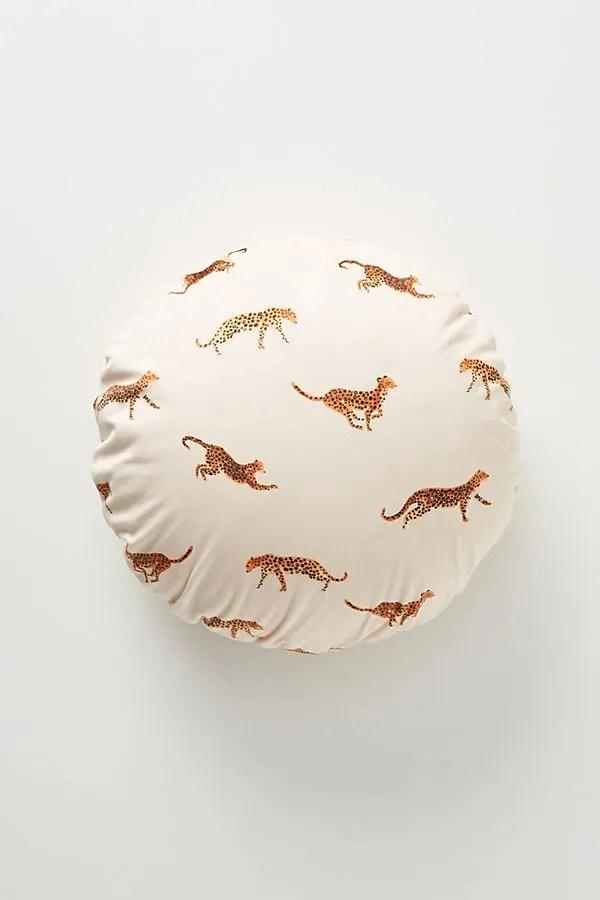 Anthropologie Leopard Velvet Pillow