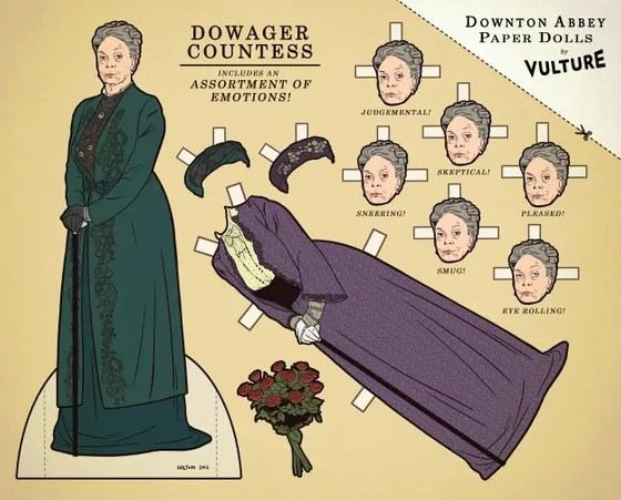 dowager paper dolls