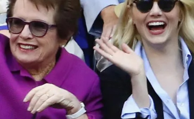 Emma Stone And Billie Jean King At The U S Open Together