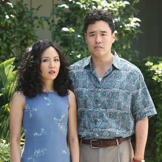 Constance Wu as Jessica and Randall Park as Louis in Fresh Off the Boat.