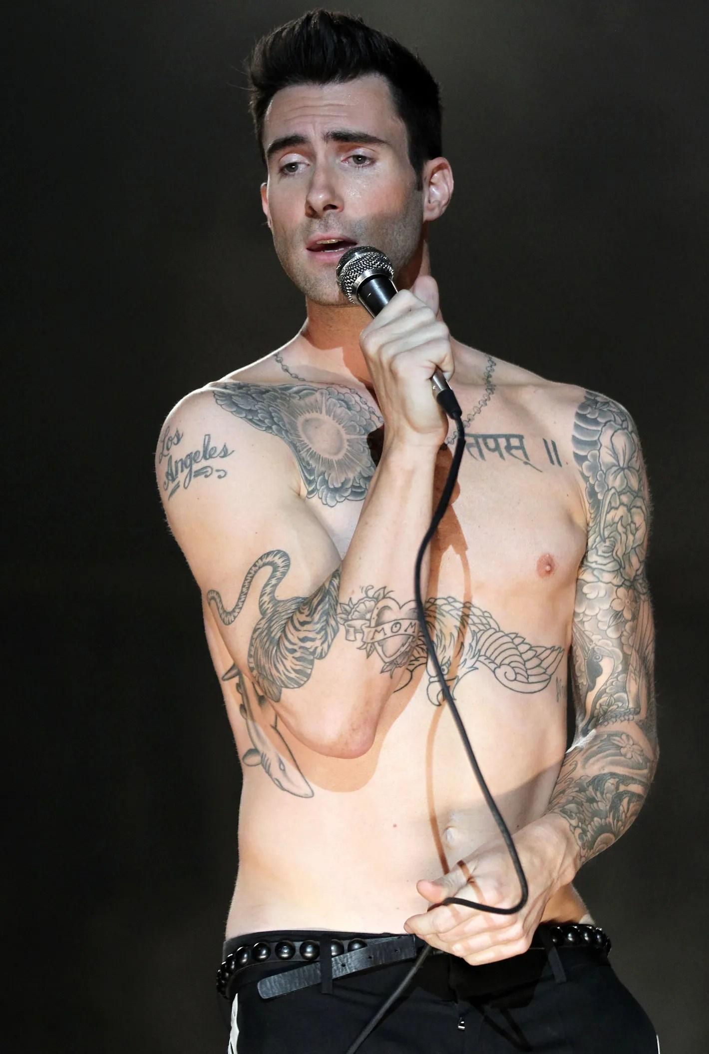Adam Levine Tiger Tattoo Stencil