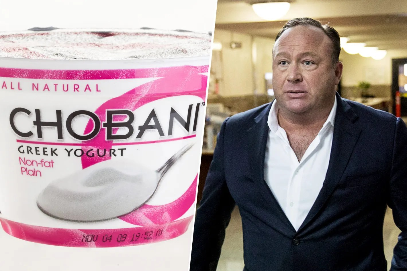 Image result for alex jones chobani