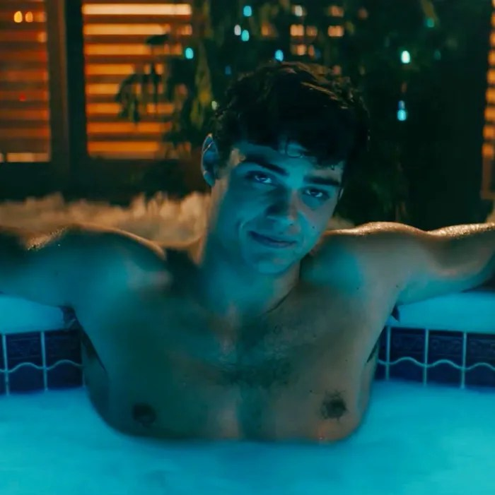 Watch Noah CentineoPeter Kavinsky In A Hot Tub For 5 Hours
