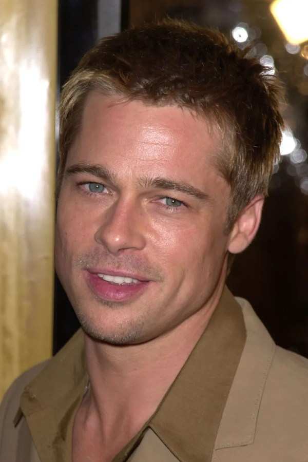 Trademark Strong Jawline And Bold Blue Eyes. - 50 Reasons Love Brad Pitt Cut