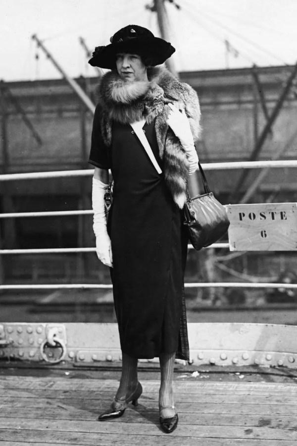 Whitney Onboard . Paris . 1920 - Gertrude Vanderbilt Cut