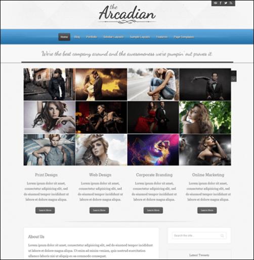 The Arcadian Responsive WordPress Theme